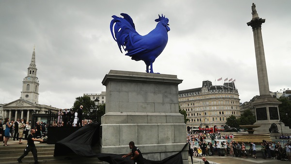 The Unveiling Of Next Fourth Plinth Sculpture By Katharina Fritsch
